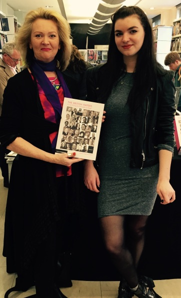 Editor of 'The British Papers' Angela Brady and Jess Mallalieu, designer of the book.